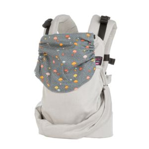 easy emeibaby carrier full light gray mushrooms Baby Size