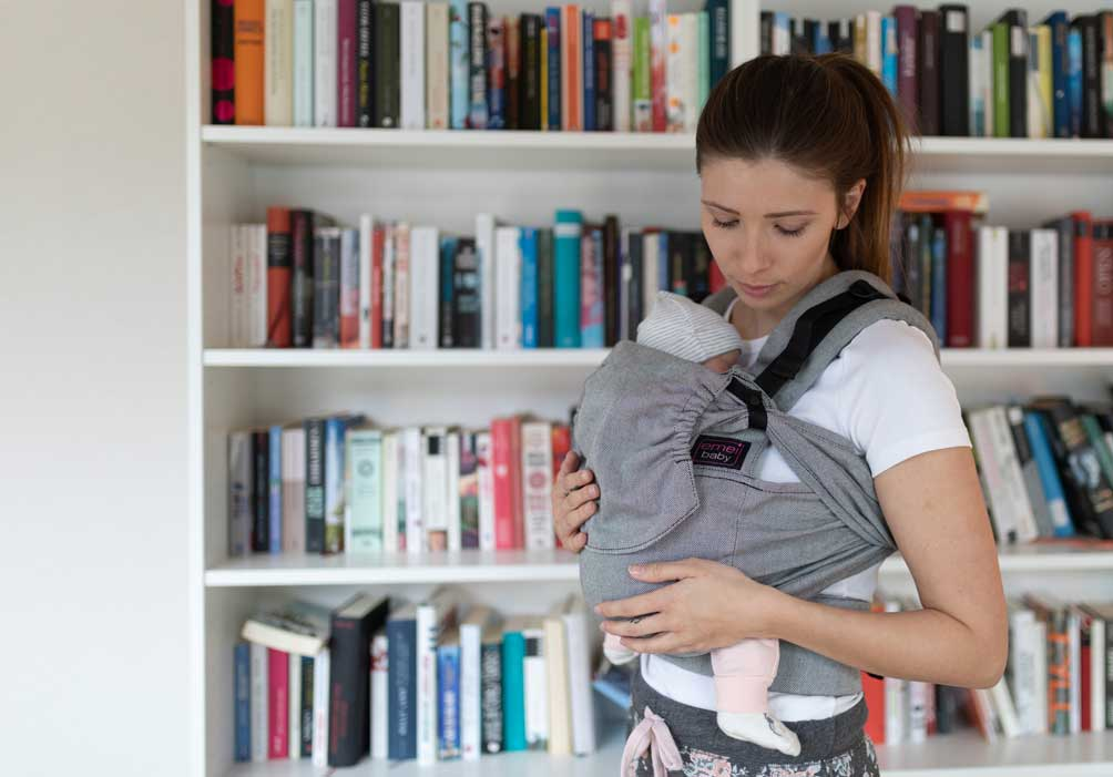 Mum with baby in baby carrier